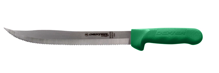 Dexter Russell 9 inch scalloped utility slicer Green Handle 242939G